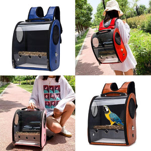 Pet Carrier Backpack for Parrot Bird Carrier Travel Bag Transparent Cover Breathable U90A