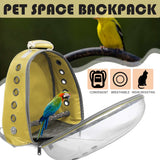 Pet Parrot Backpack Small Carrying Cage Outdoor Travel Comfortable Breathable Extensible Carrier Backbag Space Capsule