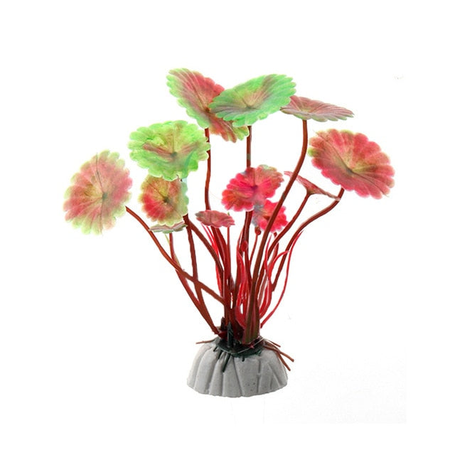 Purple/Green/Red Artificial Aquarium Decorations Plants Fish Tank Grass Flower Ornament Decor Aquarium Landscaping