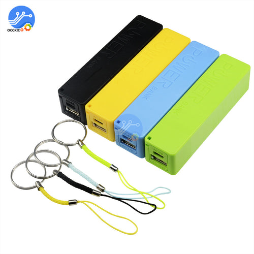 USB Power Bank Case Diy Kit Blue/Green/Yellow/Black/Pink/White 18650 Lithium Battery Charger Box Holder for 1800mAh 2200mAh