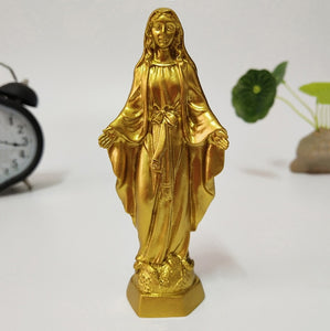 Golden Jesus Statue Madonna Figurines Virgin Mary Statues Christmas Decorations For Home Christmas Gift Ornaments