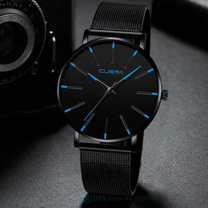 Black Wrist Watch Men Watches Business Simple Style Wristwatch Stainless Steel Male Quartz Watch For Men Clock Hours  Hodinky
