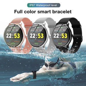 R88 Fashion Smart Bracelet Round Screen Bluetooth Step Heart Rate Blood Pressure Oxygen Sleep Monitoring IP67 Waterproof Watch
