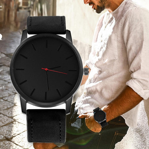 Relogio Masculino Fashion Men's Watch Large Dial Military Men Watch Leather Sport Watches For Men Clock Wristwatch Reloj Hombre
