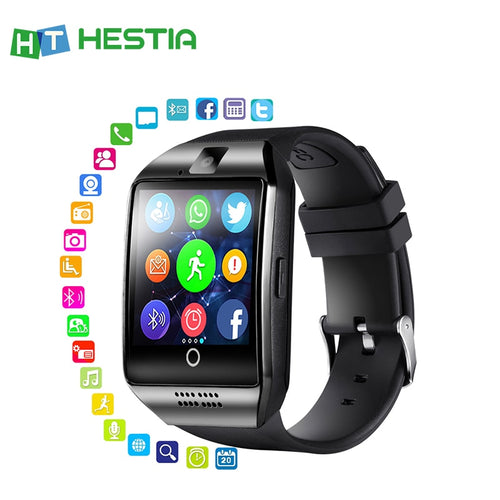 Bluetooth Smart Watch  With Camera Q18  Fitness Tracker Touch Screen Support APP Download TF Sim Card Sport Watch For Android