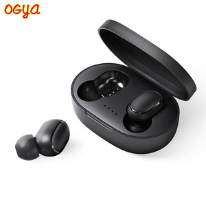 A6S Wireless Earphone TWS For Xiaomi Redmi Airdots Earbuds Bluetooth 5.0 Headsets Noise Cancelling Mic for iPhone Huawei Samsung