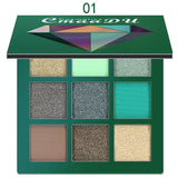 CmaaDu 9 Color Shimmer Glitter Eye Shadow Powder Matte Fashion Makeup Pallete Pigmented Eyeshadow Beauty Cosmetic sombra TSLM1