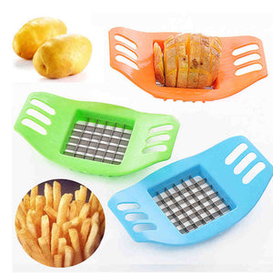 ABS Stainless Steel Potato Cutter Slicer Chopper Kitchen Shredders Cooking Tools Gadgets