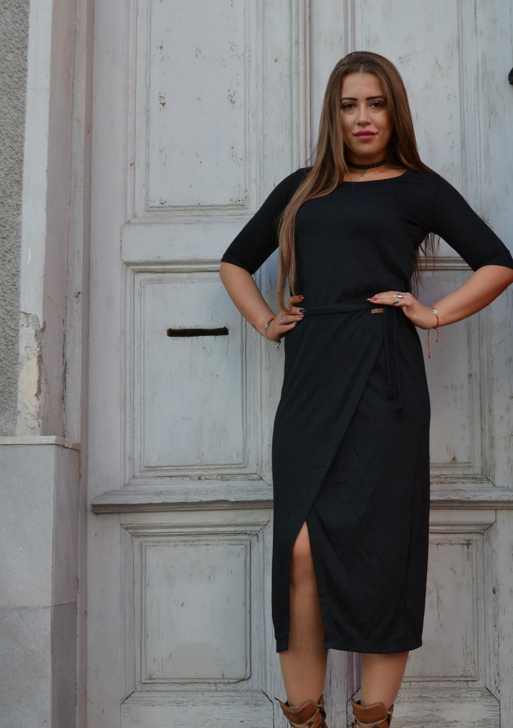 Рокля BLACK LONG DRESS