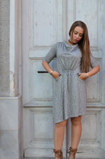 Рокля GRAY SHINY WOMEN SHORT DRESS