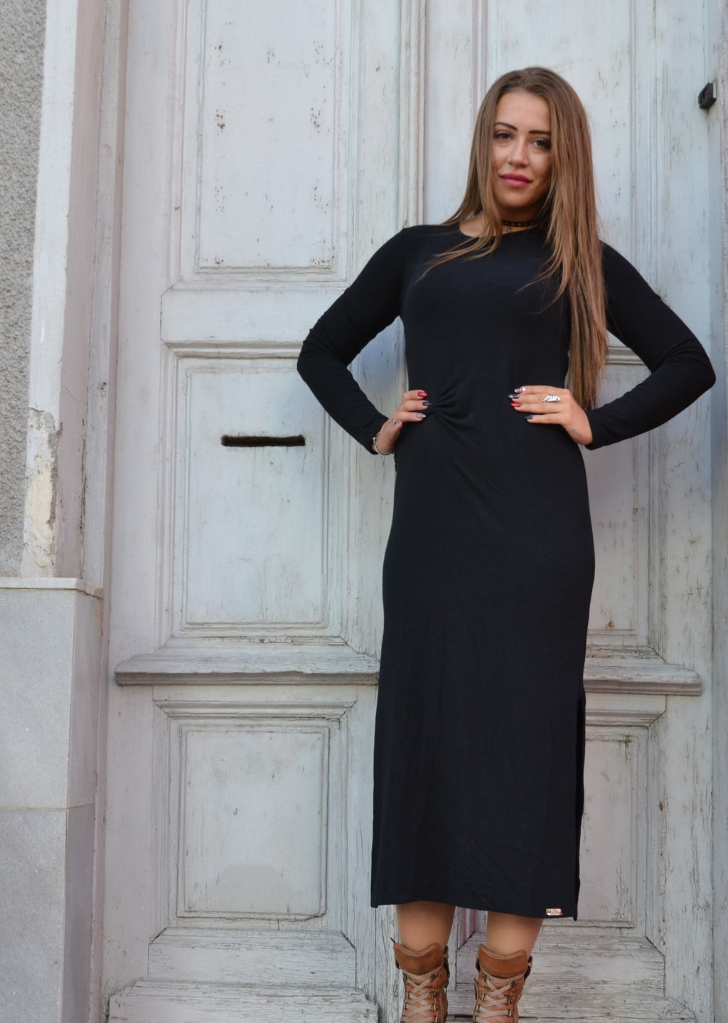 Рокля WOMEN BLACK LONG DRESS