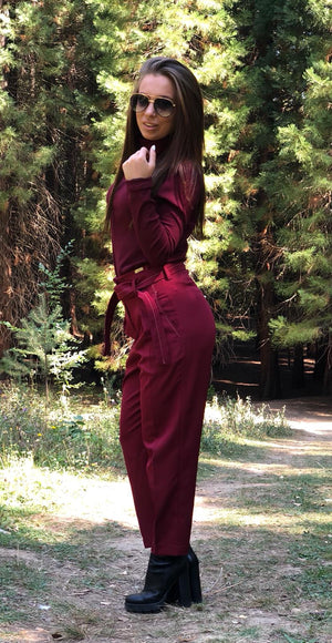 Дамски панталон WOMEN HIGH RED TROUSER