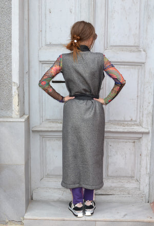 Елек GRAY SHINY LONG VEST
