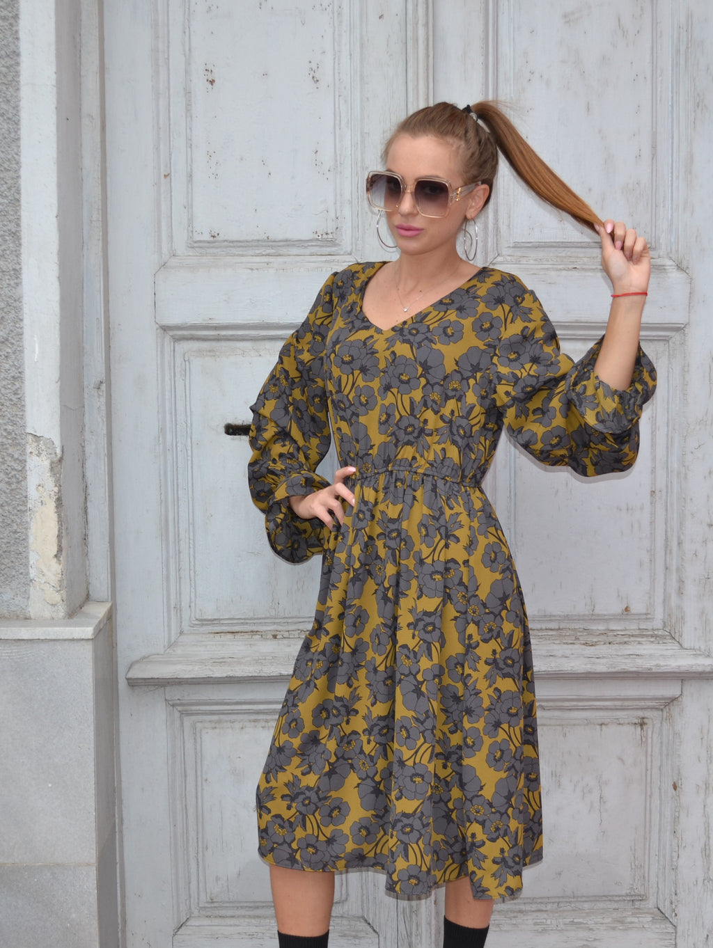 Рокля ELLEGANT AUTUMN DRESS
