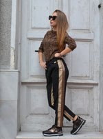 Панталон BLACK TROUSER WITH EDGES