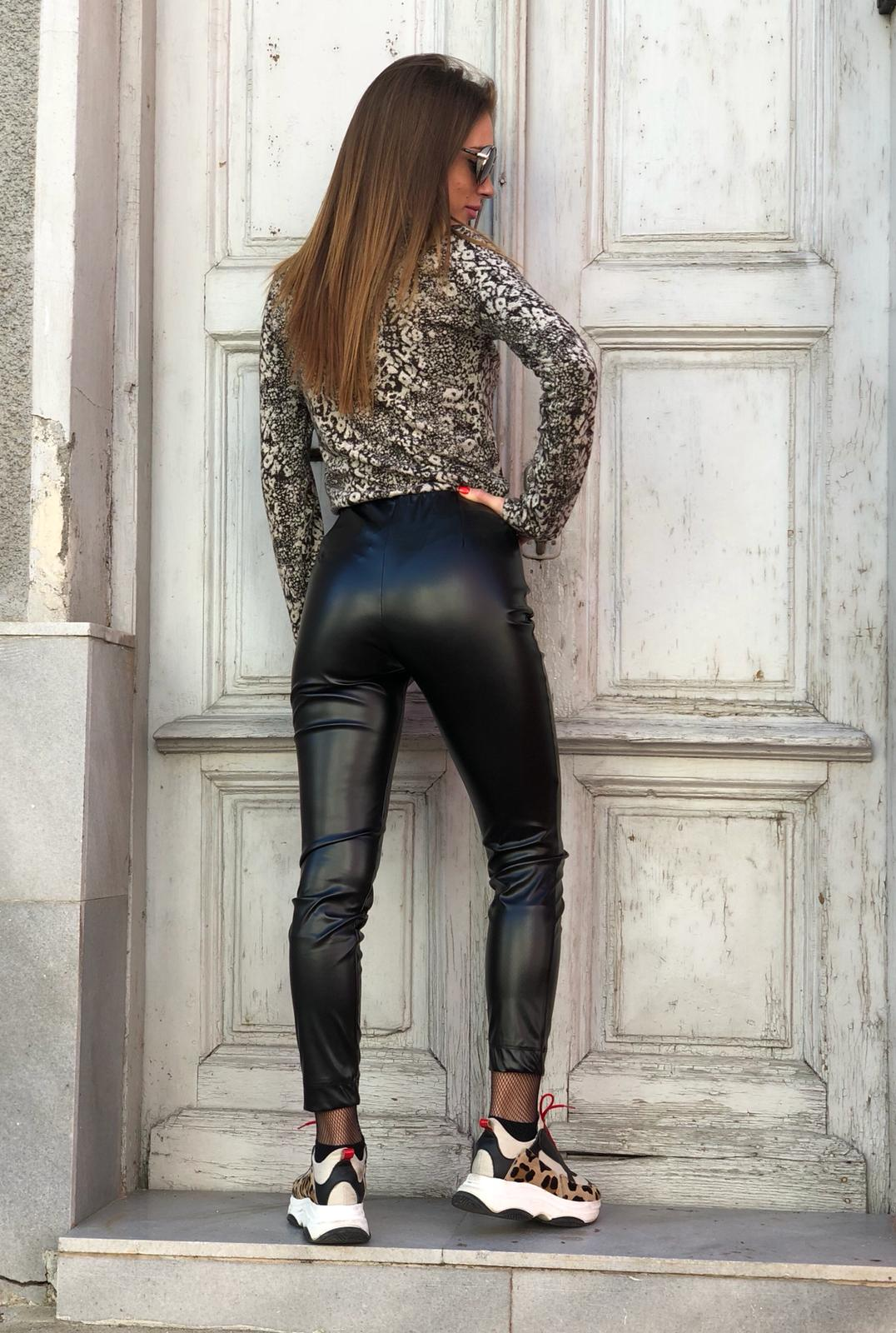 Кожен клин SLIM TROUSER LEATHER