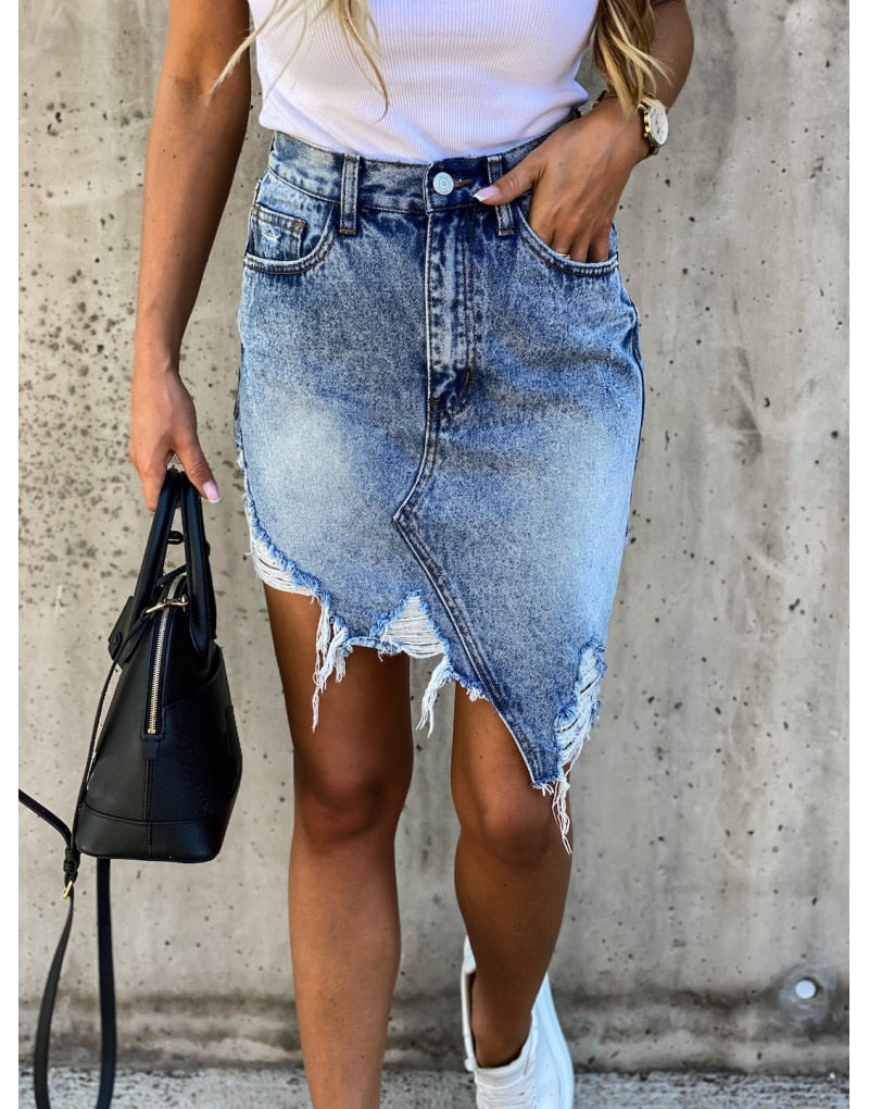 Дамска дънкова пола Denim skirt