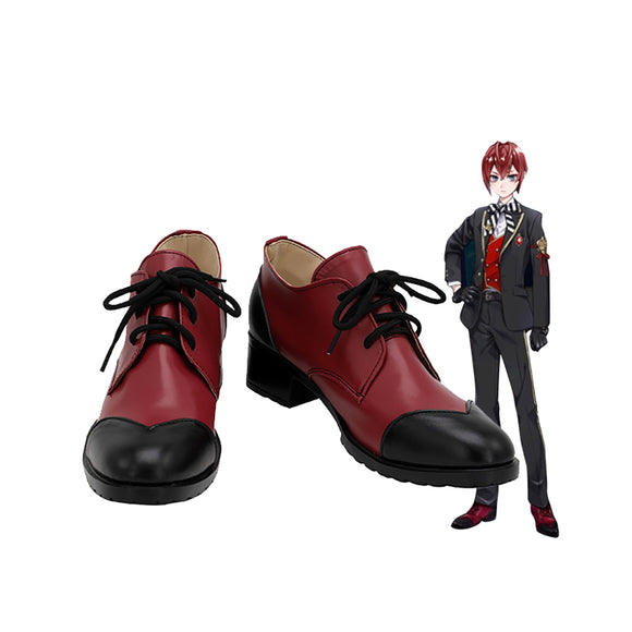 Disney Twisted-Wonderland Riddle Rosehearts Cosplay Shoes Red Boots