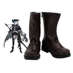 Arknights Skadi Cosplay Boots Brown Shoes Custom Made Any Size