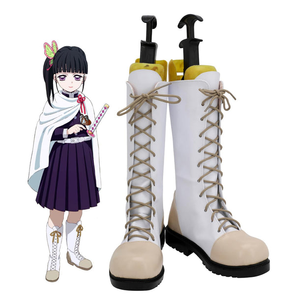 Demon Slayer Kimetsu no Yaiba Tsuyuri Kanawo Cosplay Boots White Shoes Custom Made Any Size