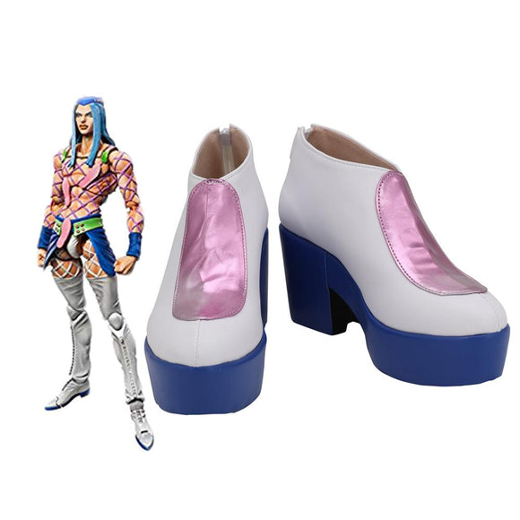 JoJo's Bizarre Adventure Narciso Anasui Cosplay Shoes Leather Boots Custom Made Any Size