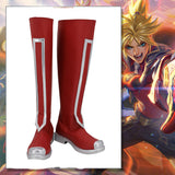 League of Legends LOL Battle Academia Ezreal the Prodigal Explorer Cosplay Boots Red Shoes Custom Made