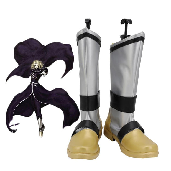 The King of Fighters 2001 Igniz Cosplay Boots Silver Shoes Custom Made Any Size