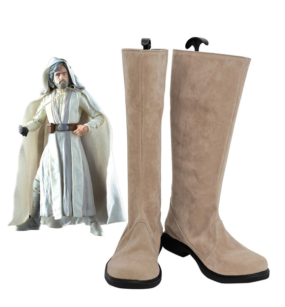 Star Wars: The Last Jedi Luke Skywalker Cosplay Boots Custom Made Shoes for Unisex Any Size