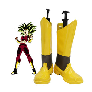 Dragon Ball Super Kefla Cosplay Boots Yellow Shoes Custom Made for Unisex Halloween Comic-Con Cosplay