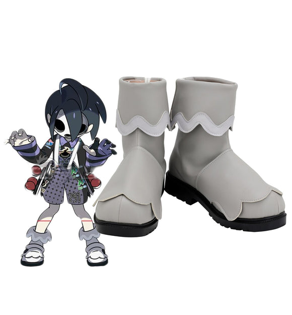 Pokemon Gym Leader Allister Cosplay Boots Grey Shoes Custom Made Any Size for Unisex