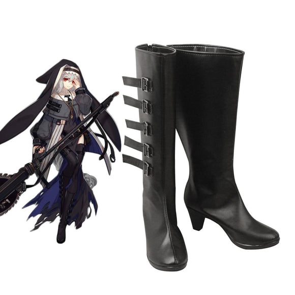 Arknights Specter Cosplay Boots Black High Heel Shoes Custom Made