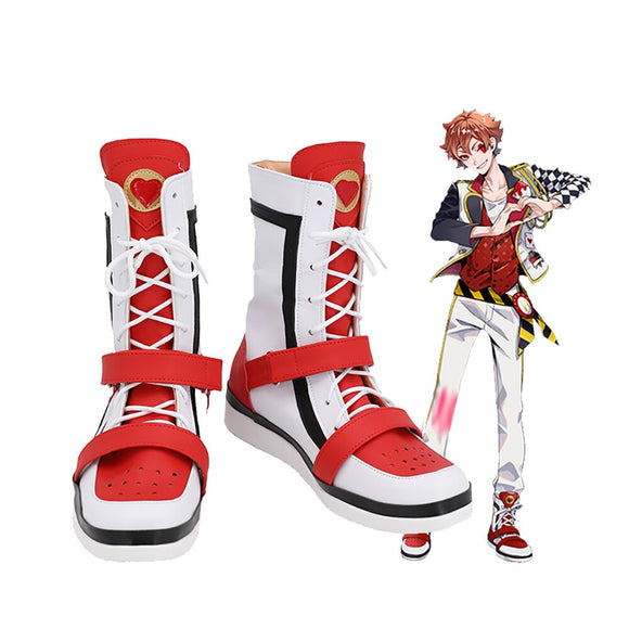 Disney Twisted-Wonderland Ace Trappola Cosplay Boots Ace White Shoes Custom Made for Unisex