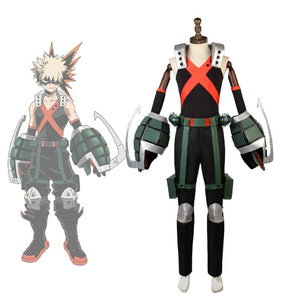 My Hero Academia Katsuki Bakugo Cosplay Costume With Armor Props Full Set Boku no Hero Academia Katsuki Cosplay