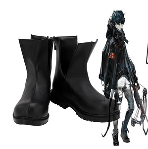 Game Arknights Faust Cosplay Boots Black Shoes Custom Made for Unisex Any Size