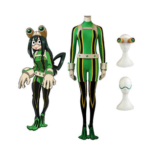 My Hero Academia Tsuyu Asui Hero Cosplay Costume Full Set Boku no Hero Academia Tsuyu Bodysuit Cosplay