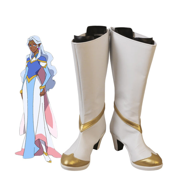 Voltron: Defender of the Universe Princess Allura Cosplay Boots High Heel Shoes Custom Made