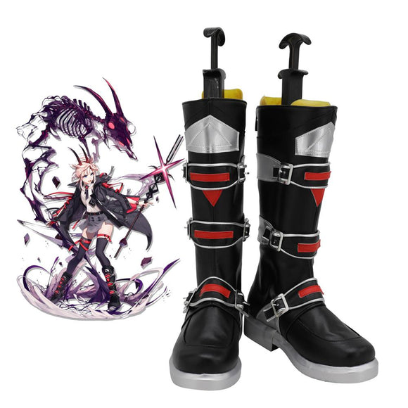 Arknights Earthspirit Cosplay Boots Leather Shoes Custom Made Any Size