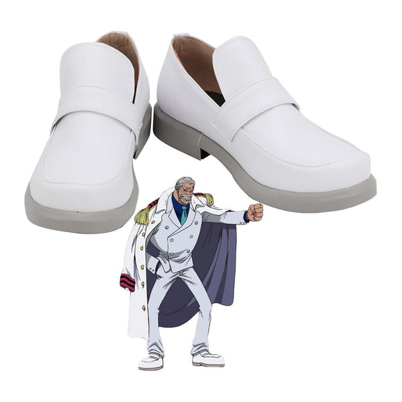Garp Shoes Cosplay One Piece Monkey D Garp Cosplay Shoes White Boots Custom Made Any Size