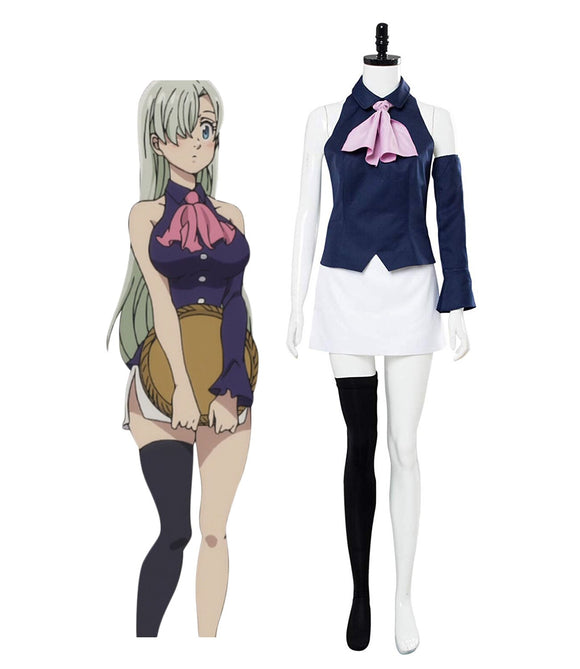 The Seven Deadly Sins Elizabeth Liones Cosplay Costume Custom Made