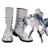 USS Seattle Shoes Cosplay Azur Lane Seattle Cosplay Boots Silver Shoes