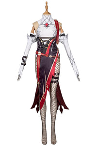 Genshin Impact Rosaria Cosplay Costume Custom Made Rosaria Dress Boots Full Set Cosplay for Women Fancy Stage Dress
