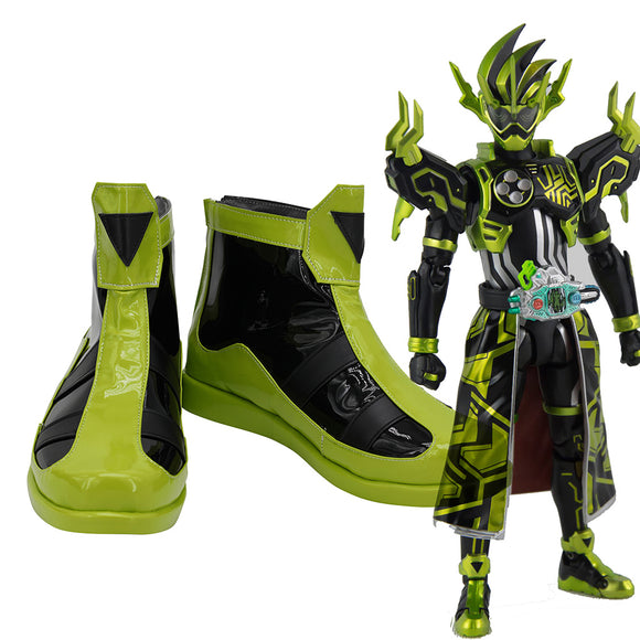 Kamen Rider Cronus Cosplay Boots Masked Rider Cronus Leather Shoes Cosplay Custom Made Any Size