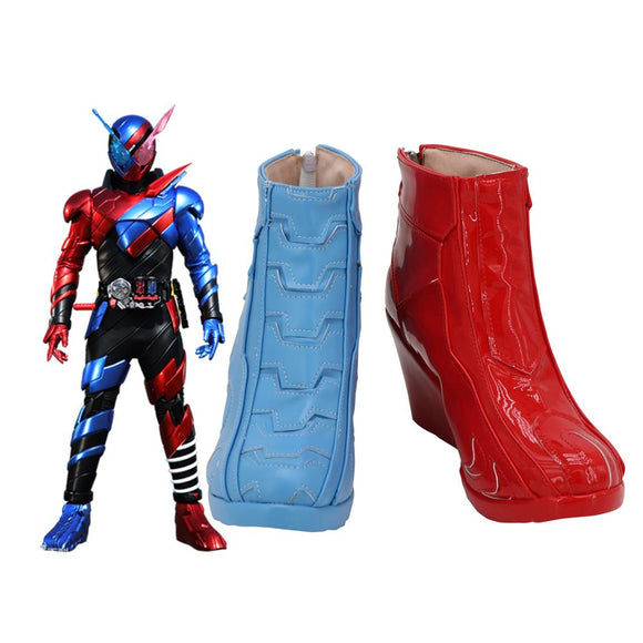 Kamen Rider Build Rabbit Tank Form Cosplay Boots Wedge Heel Shoes Custom Made