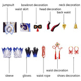 Genshin Impact Ganyu Cosplay Costume Shoes Full Set Custom Made Carnival Halloween Sexy Dress