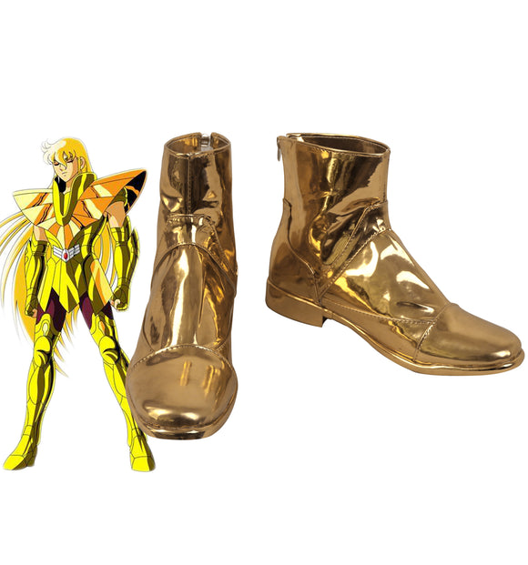 Saint Seiya Shaka Cosplay Boots Golden Shoes Custom Made for Unisex