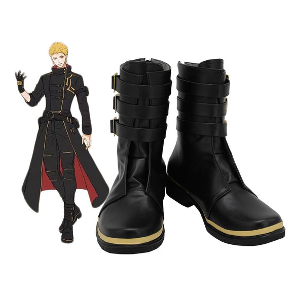 FGO Gilgamesh Shoes Cosplay Fate Grand Order Gilgamesh Cosplay Boots Leather Shoes Custom Made