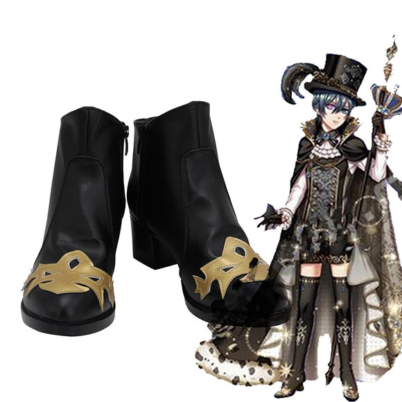 Black Butler Dream 100 Sun Awakening Ciel Phantomhive Cosplay Boots Black Shoes