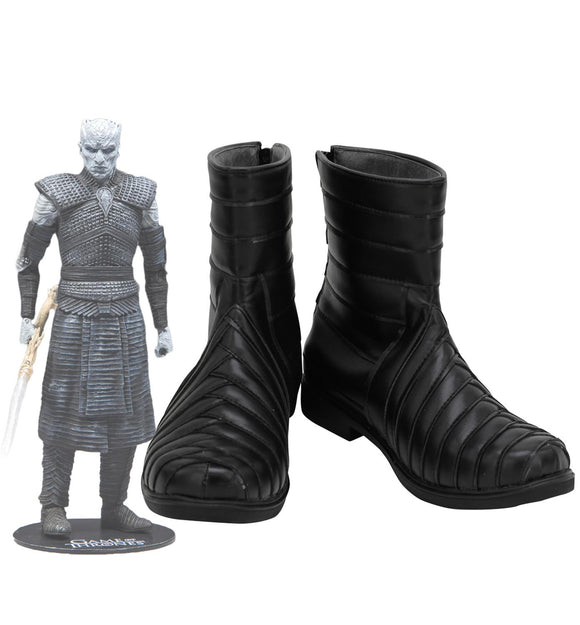 Game of Thrones Season 8 Night King Cosplay Boots Black Shoes Custom Made