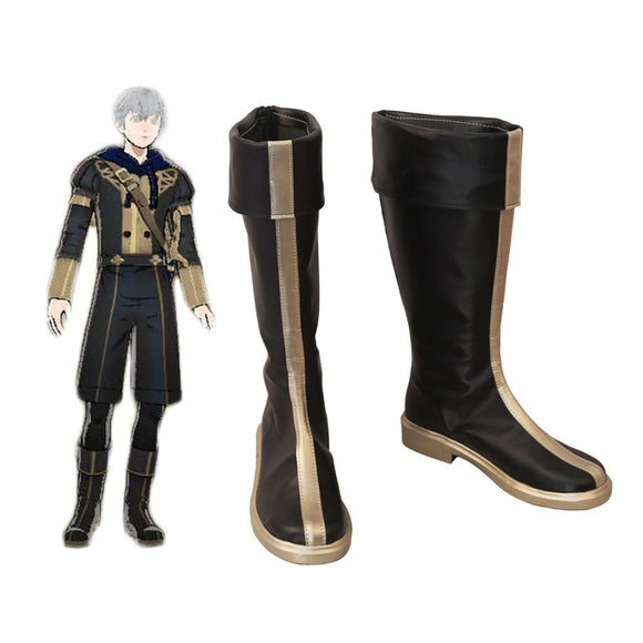 Fire Emblem Three Houses Ashe Cosplay Boots Customized Leather Shoes for Adults and Kids Halloween Cosplay