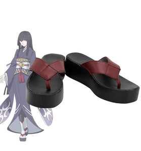 The Rising of the Shield Hero Glass Cosplay Shoes Leather Flip-flops Custom Made Any Size